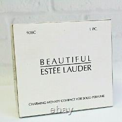 Estee Lauder 2003 Solid Perfume Compact Charming Monkey MIBB Beautiful