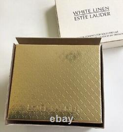 Estee Lauder 2003 Solid Perfume Compact Fiery Fox Jay Strongwater White LinenNIB