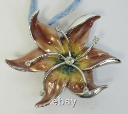 Estee Lauder 2003 Solid Perfume Compact Necklace Fantasy Flowers MIBB