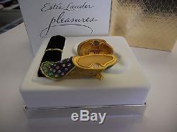 Estee Lauder 2003 Solid Perfume Compact Precious Peacock Mibb Full