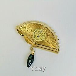 Estee Lauder 2003 Solid Perfume Compact Venetian Fan MIBB Intuition