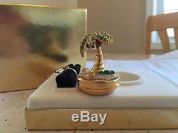 Estee Lauder 2003 Solid perfume compact MIB Rare SHIMMERING OASIS PLEASURES