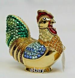 Estee Lauder 2004 Perfume Compact Bejeweled Rooster Judith Leiber MIBB Intuition