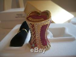 Estee Lauder 2004 Solid Perfume Compact Bustier Bust Mib Full Sparkly Gorgeous