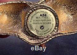 Estee Lauder 2005 Radiant Fish Beautiful Solid Perfume Compact Jeweled