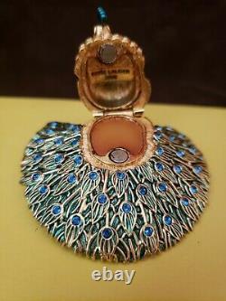 Estee Lauder 2006 Beautiful Glorious Peacock Solid Perfume Compact Mib Rare