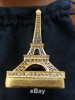 Estee Lauder 2006 Beyond Paradise Eiffel Tower Solid Perfume Compact Trinket Box