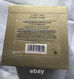 Estee Lauder 2006 Solid Perfume Compact Garden Rabbit Jay Strongwater WhiteLinen