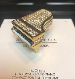 Estee Lauder 2007 Glittering Piano Solid Perfume Compact