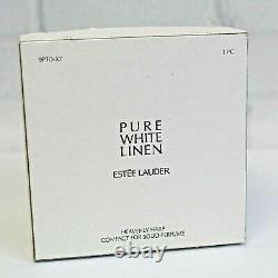 Estee Lauder 2007 Solid Perfume Compact Heavenly Harp MIBB White Linen