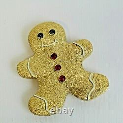 Estee Lauder 2008 Solid Perfume Compact Holiday Treat Gingerbread Man MIBB
