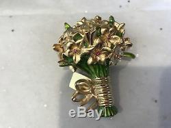 Estee Lauder 2009 Solid Perfume Compact Beautiful Romantic Bouquet Mib Full