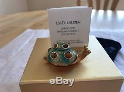 Estee Lauder 2010 Solid Perfume Compact Shimmering Snail Strongwater Mib