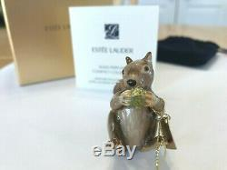 Estee Lauder 2010 Solid perfume compact MIB PLAYFUL SQUIRREL JAY STRONGWATER