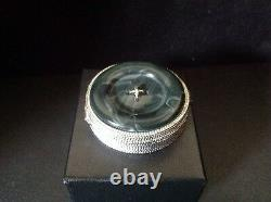 Estee Lauder Aliage Jade Button Box Compact for Solid Perfume 1977 empty
