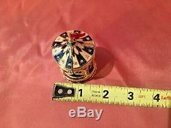 Estee Lauder BEAUTIFUL CIRCUS TENT Solid Perfume Compact with Pouch & Box