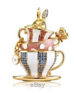 Estee Lauder BEAUTIFUL Wonderland Tea Party Solid Compact Collectable 2018 NIB