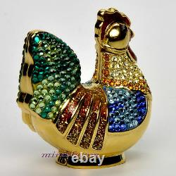 Estee Lauder BEJEWELED ROOSTER Solid Perfume Compact 2004 by Judith Leiber