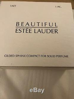 Estee Lauder Beautiful 2001 Gilded Sphinx Perfume Compact Evelyn Lauder Auto
