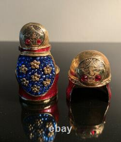Estee Lauder Beautiful 2008 Matryoshka Nesting Dolls Solid Perfume Compact