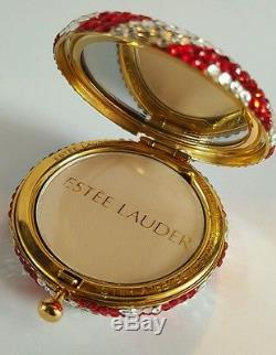 Estee Lauder Beautiful America Swarovski Crystal Powder Compact New