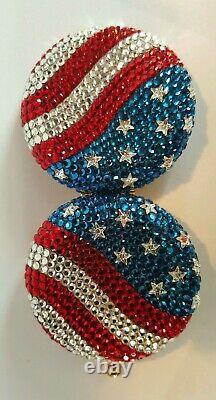 Estee Lauder Beautiful America Swarovski Crystal Powder Compact Rare New