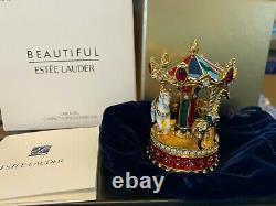 Estee Lauder Beautiful Carousel Compact solid Perfume Limited Edition NIB Mint