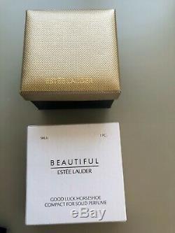 Estee Lauder Beautiful Good luck Horseshoe Perfume Compact