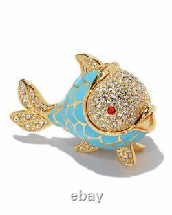 Estee Lauder Beautiful Solid Perfume Compact Whimsical Fish 2017 Rare