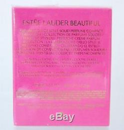 Estee Lauder Beautiful Solid Perfume Golden Cocktail Ring Compact Nib Sealed