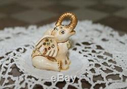 Estee Lauder Bejeweled LUCKY ELEPHANT Solid Perfume Compact