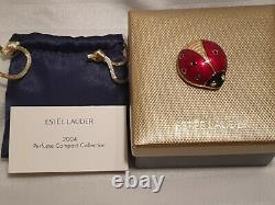 Estee Lauder Beyond Paradise Lucky ladybug Ladybird Solid Perfume Compact 2004