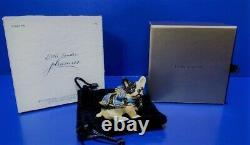 Estee Lauder Blue Ribbon Bulldog Jay Strongwater Solid Perfume Compact w Box