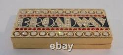 Estee Lauder Broadway Gold Tone Solid Perfume Collector Compact 2008