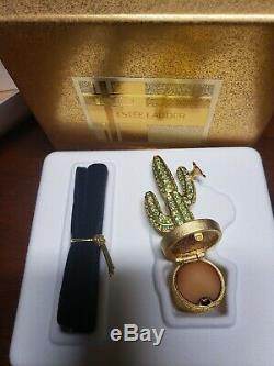 Estee Lauder CACTUS Pleasures Solid Perfume Compact with Pouch and Box