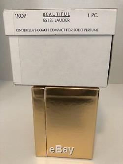 Estee Lauder CINDERELLAS COACH Crystal Pumpkin Solid Perfume Compact