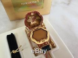 Estee Lauder CINDERELLAS COACH Crystal Pumpkin Solid Perfume Compact 2000