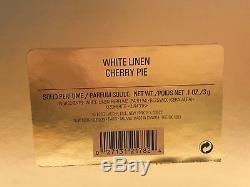 Estee Lauder Cherry Pie Solid Perfume Compact Mib White Linen 2000