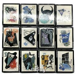 Estee Lauder Compact Erte Lucidity Zodiac Complete Set of 12 Vintage
