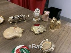 Estee Lauder Compact Lot Tiger 2009 Owl Cat Elephant Lollipop Cafe Perfume Shell