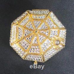 Estee Lauder Compact Spider Web with Swarovski Crystals