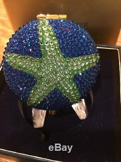 Estee Lauder Crystal Starfish Pressed Powder Compact MIB Collectors Alert RARE