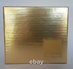 Estee Lauder Dazzling Gold TREASURE CHEST Solid Perfume Compact NIB 2001