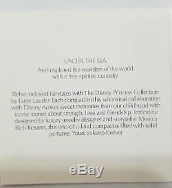 Estee Lauder & Disney Solid Perfume Compact Little Mermaid Under the Sea NIBB