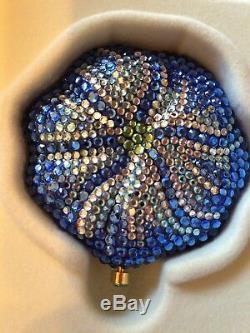 Estee Lauder Exclusive Collectable Bermuda Blue Blossom Crystal Powder Compact