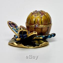 Estee Lauder GLISTENING DRAGONFLY Compact for Solid Perfume 2002 Jay Strongwater