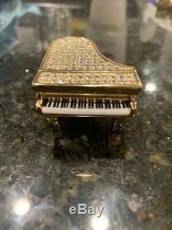 Estee Lauder GLITTERING GRAND PIANO Compact for Solid Perfume 2007- Rare