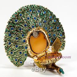 Estee Lauder GLORIOUS PEACOCK Solid Perfume Compact 2006 All Boxes