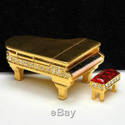 Estee Lauder GRAND PIANO Compact for Solid Perfume 1999 With Box