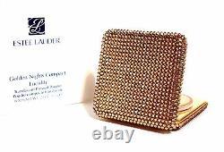 Estee Lauder Golden Nights Lucidity Pressed Powder Crystal Compact 2015 Nib